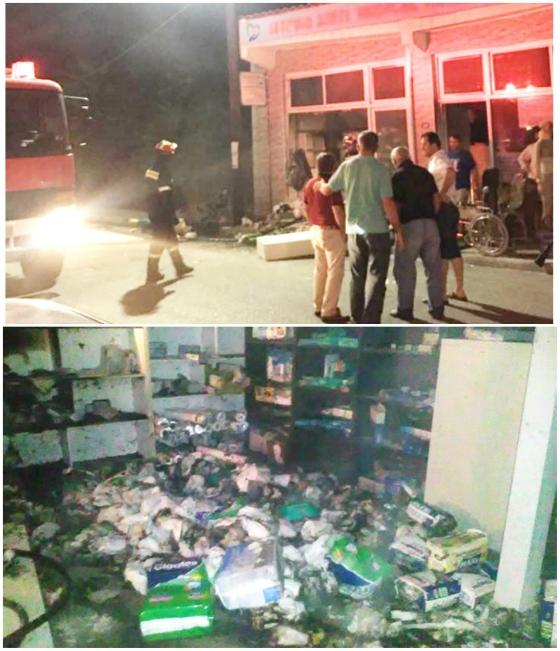 Σάπες: Ολοκληρωτική καταστροφή σε κατάστημα από πυρκαγιά