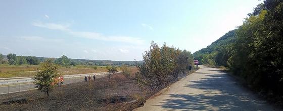 Το σημείο όπου εκδηλώθηκε η πυρκαγιά