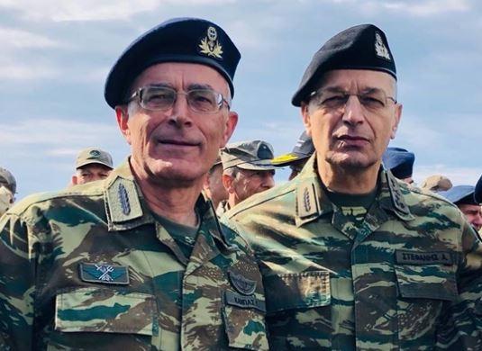 """Ο Διοικητής του Δ' ΣΣ Γ.Καμπάς & ο Αρχηγός ΓΕΣ Αλ.Στεφανής στην τελική φάση του """"Παρμενίωνα 2018"""" στην Αλεξανδρούπολη"""