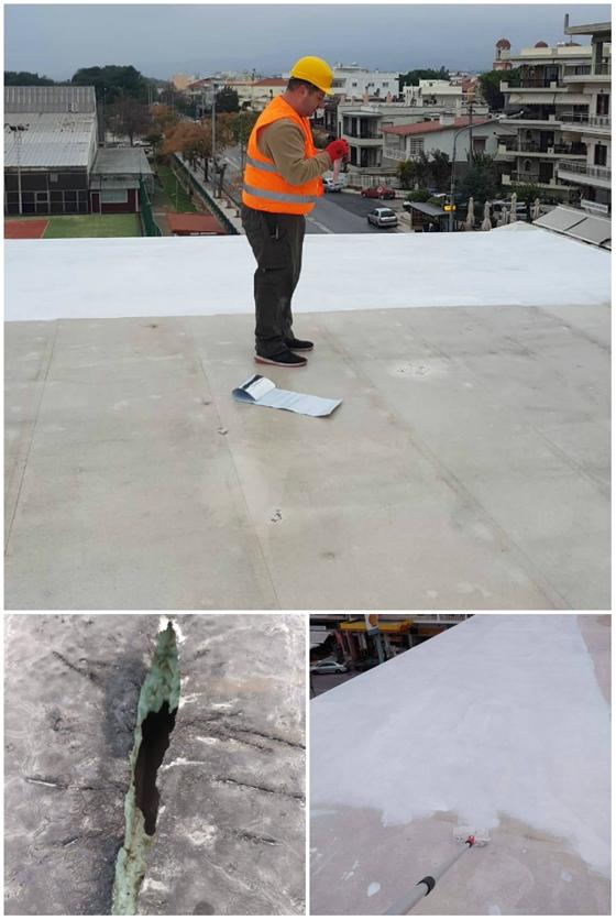 """Οι εργασίες που πραγματοποιήθηκαν στην """"ταλαίπωρη"""" οροφή"""