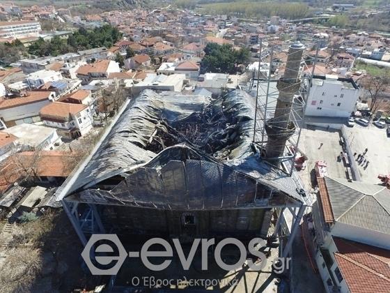 Το Τέμενος όπως το άφησε πίσω της η φωτιά της 22ης Μαρτίου του 2017