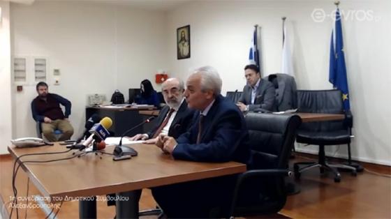 Ο Πρύτανης Αλέξανδρος Πολυχρονίδης & ο Δήμαρχος Αλεξανδρούπολης Βαγγέλης Λαμπάκης