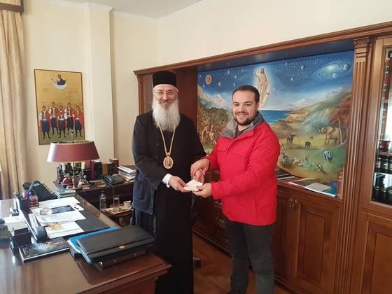 O Μητροπολίτης Άνθιμος & ο Γιώργος Κουρτίδης
