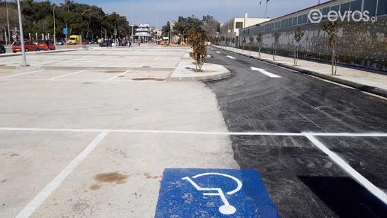 Παραδόθηκε το πάρκινγκ στην παραλιακή της Αλεξανδρούπολης: «160 θέσεις κατάλληλα διαμορφωμένες»