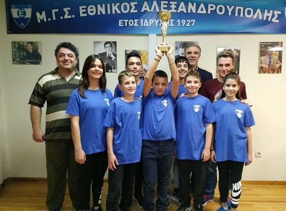 Σκάκι: Πρωταθλήτρια Περιφέρειας ΑΜ-Θ & Σερρών η ομάδα του Εθνικού Αλεξανδρούπολης