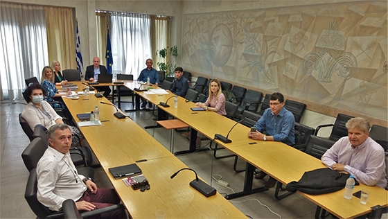 Στιγμιότυπο από τη συνεδρίαση στην Περιφέρεια ΑΜΘ
