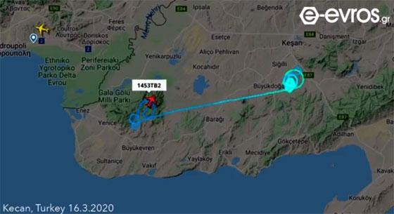 Τουρκικά μη επανδρωμένα αεροσκάφη κάνουν περιπολίες & μεταφέρουν πληροφορίες από τα σύνορα