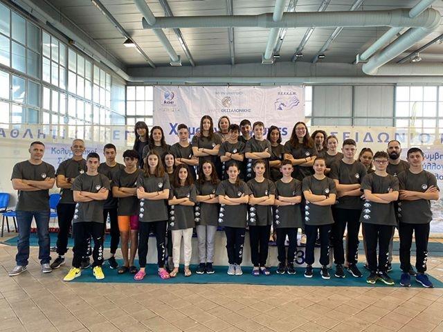 Με 32 μετάλλια επέστρεψαν οι αθλητές του ΟΦΘΑ από τους Χειμερινούς Αγώνες Κατηγοριών Β. Ελλάδος