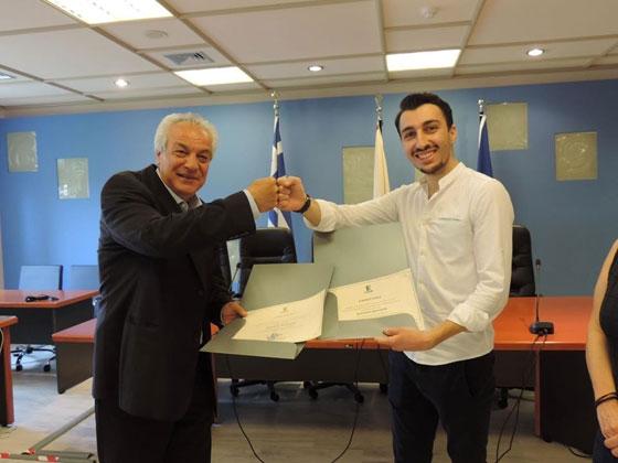 Δ.Π.Θ: Βραβεύτηκε ο φοιτητής Πολυτεχνείου Κωνσταντίνος Εμμανουηλίδης