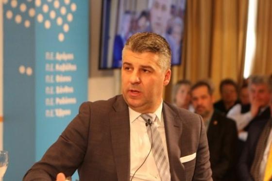 Ο επικεφαλής της παράταξης Περιφερειακή Σύνθεση Χρ. Τοψίδης