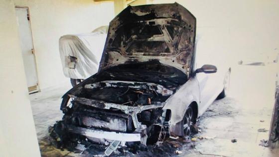 Αυτό είναι το όχημα του Μέραρχου το οποίο καταστράφηκε ολοσχερώς