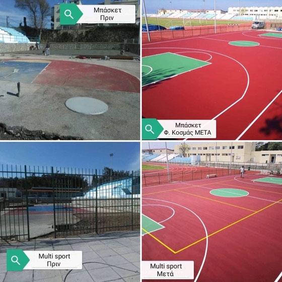 Αλεξανδρούπολη: Ολικό «λίφτινγκ» στα ανοιχτά γήπεδα μπάσκετ & βόλεϊ