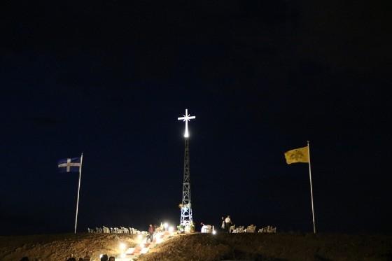 Αντιδράσεις στην Τουρκία για τον μεγάλο φωτεινό Σταυρό που τοποθετήθηκε στην Νέα Βύσσα και είναι ορατός στην Αδριανούπολη