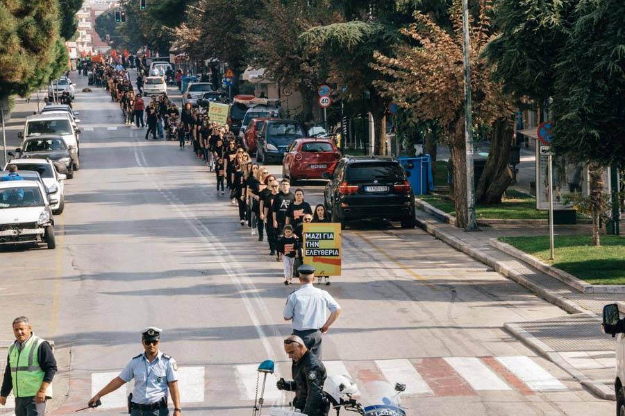 Στην κεντρική λεωφόρο της Αλεξανδρούπολης περπατήσαμε κατά της εμπορίας ανθρώπων