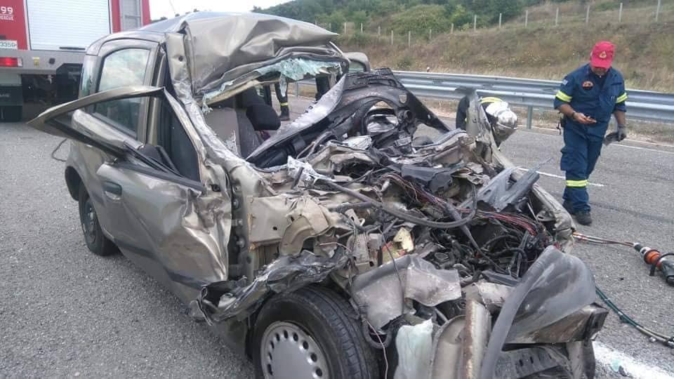 Το διαλυμένο ΙΧ όχημα της άτυχης 33χρονης