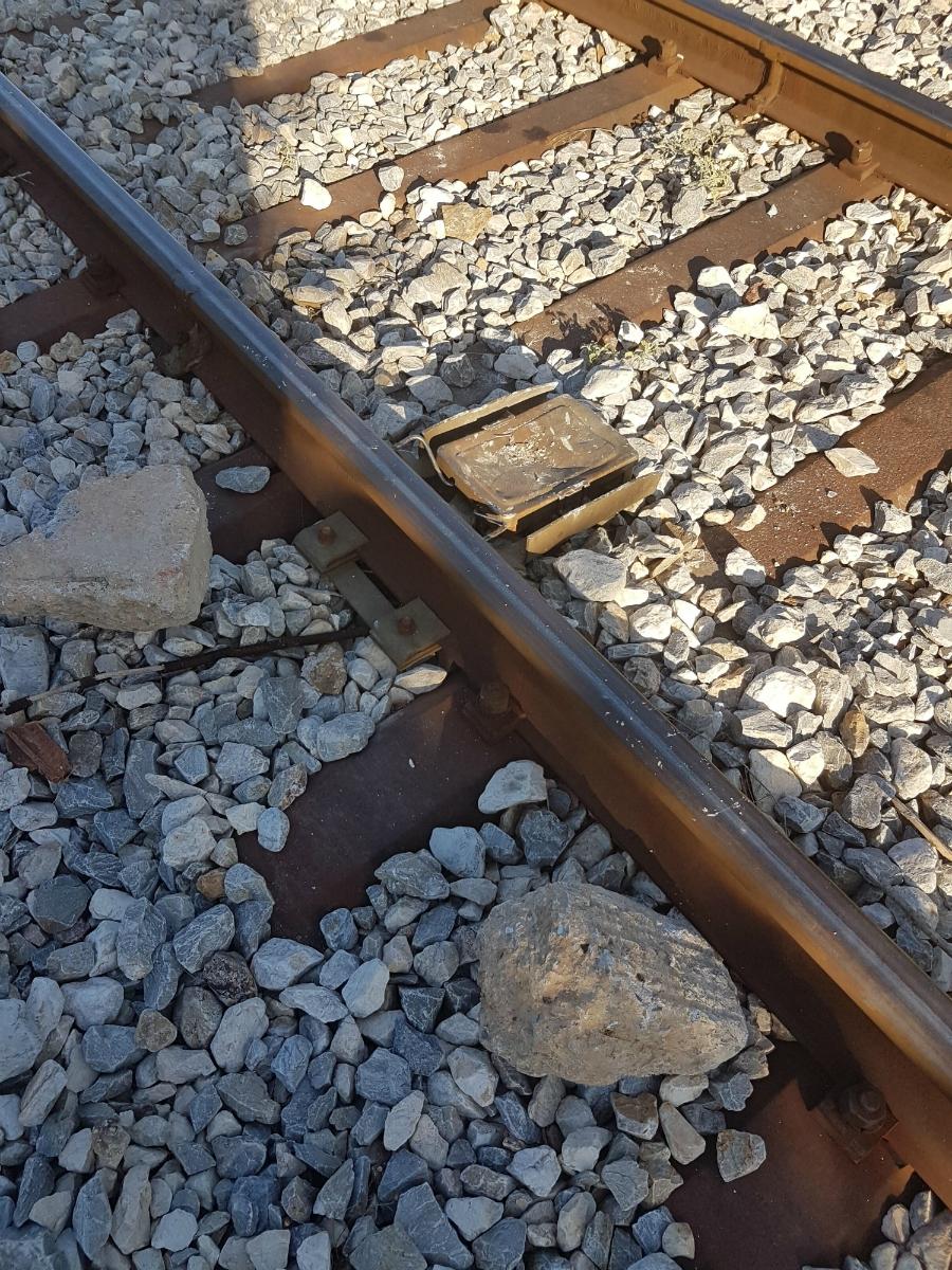 Αλεξανδρούπολη: Δολιοφθορά με στόχο τον εκτροχιασμό του τρένου ή απλή ανοησία; (φωτο)