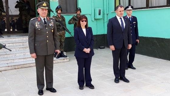 Στις Καστανιές του Έβρου βρέθηκε η Πρόεδρος της Δημοκρατίας