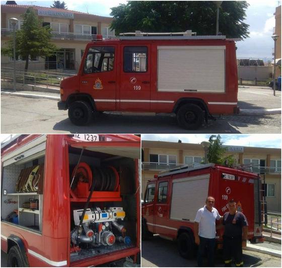 Νέο πυροσβεστικό όχημα απέκτησε το Εθελοντικό Πυροσβεστικό Κλιμάκιο Φερών