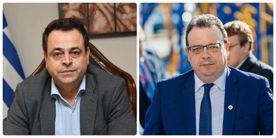Από αριστερά ο Ν.Σαντορινιός & ο Σ.Φάμελλος