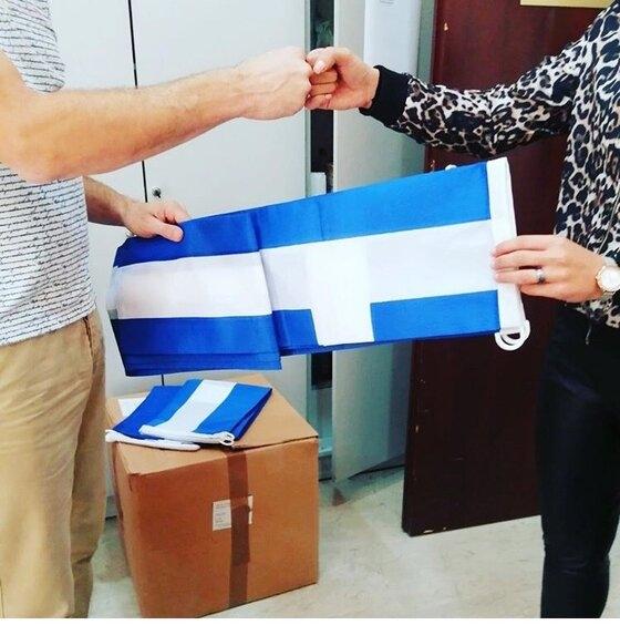 Ανάρπαστες οι γαλανόλευκες σημαίες του Δήμου Αλεξανδρούπολης