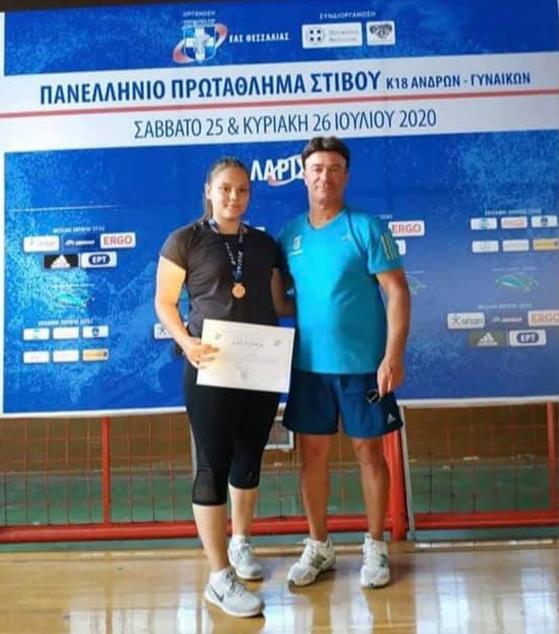 Με χάλκινο μετάλλιο στην Δισκοβολία γύρισε στην Αλεξανδρούπολη η Ιωάννα Αραμπατζή